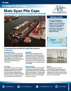 Main Span Pile Caps